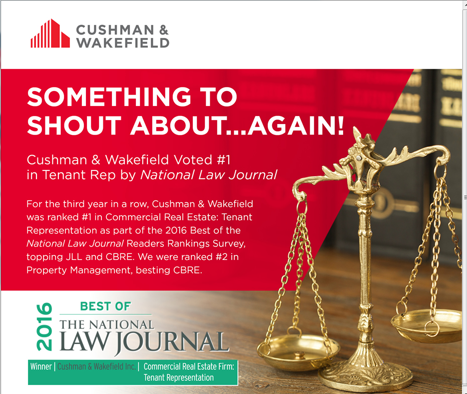 2016 C&W CRE Tenant Rep National Law Journal