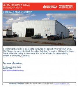 Sale Announcement 3915 Oaklawn Dr