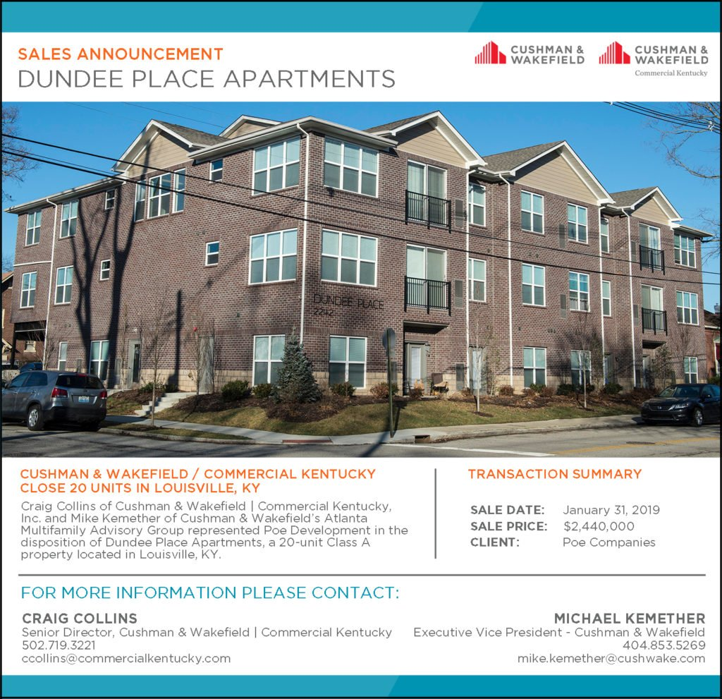 Craig Collins Closes On Dundee Place Apartments