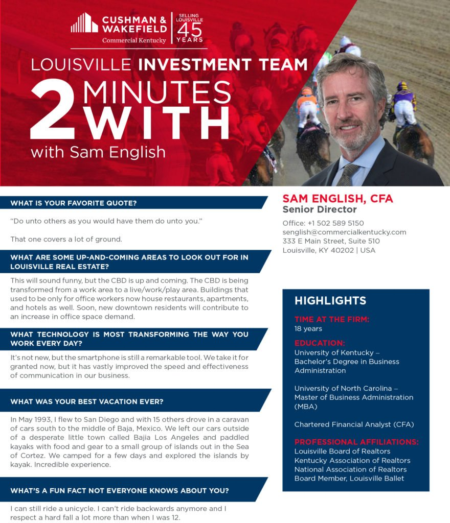 f40da399b7e Two minutes with Sam English! - Commercial KentuckyCommercial Kentucky