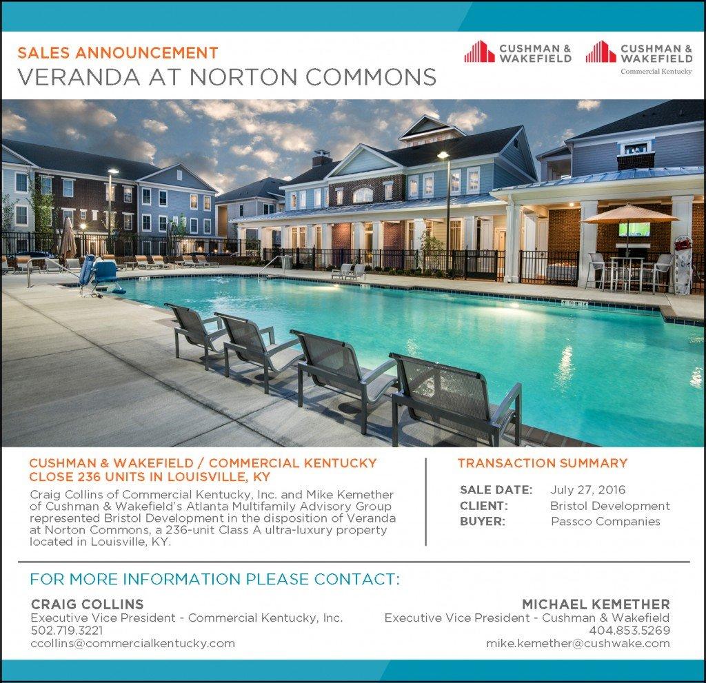 Veranda at Norton Commons Sale Announcement